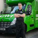 Arms Folded Outside Removal Van