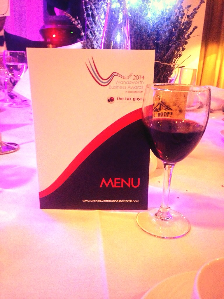 Wandsworth business awards glss of wine
