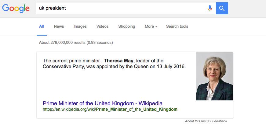 uk president Google
